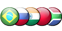 BRICS flag buttons