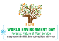 world env. day logo