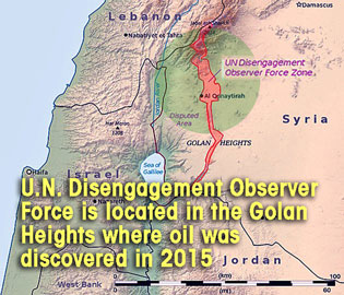 golan oil map