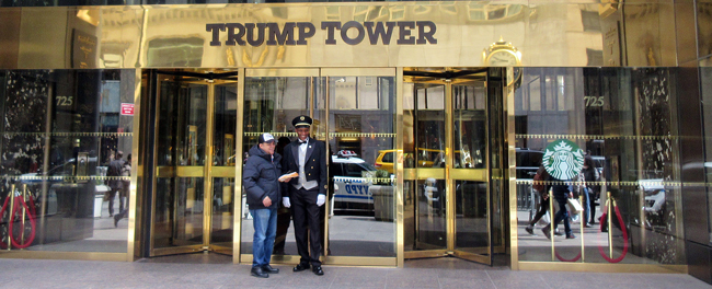 Trump Tower entranc