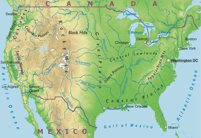 U.S. Rivers Map