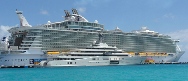 World's largest cruise ship & yatch