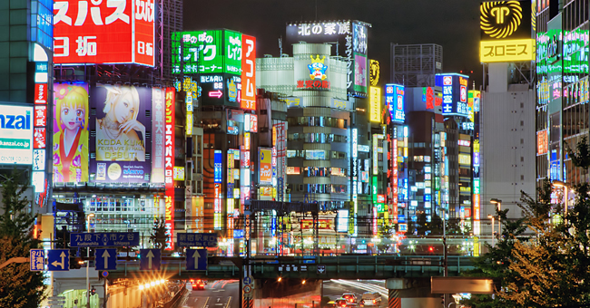 Tokyo streets mimic the neon city of New York